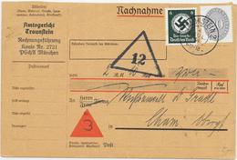 DR Dienst Brief Nachnahme Amtsgericht Traunstein 4.7.34 Mif. Mi.126,135 - Allemagne
