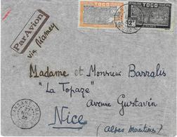 Togo Lettre Sansane-mango 1935 - Togo (1914-1960)