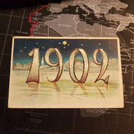 Année 1902 Avec Paillette - Nouvel An