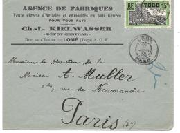 Togo Lettre Lomé 1935 - Togo (1914-1960)