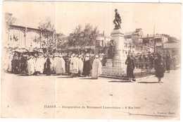 CPA ALGERIE TIARET.TNAUGURATION DU MONUMENT LAMORICIERE.8 MAI 1910 - Tiaret