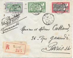 Togo Lettre Lomé 1934 - Togo (1914-1960)