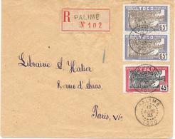 Togo Lettre Palimé 1933 - Togo (1914-1960)