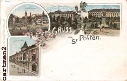 GRUSS AUS ST. PÖLTEN AUSTRIA AUTRICHE 1897 - St. Pölten