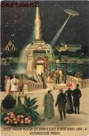 BRUXELLES PAVILLON EXPOSITION BRÜSSEL CERESIT-WASSER BELGIQUE ILLUSTRATOR ASTRONOMIE AVIATION - Universal Exhibitions