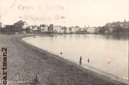 CARTE PHOTO : SESTRI LEVANTE SPIAGGA CROCE DI MALTA SPEZIA CACHET ITALIA - Non Classés