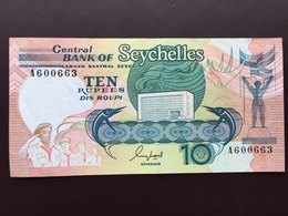 SEYCHELLES P32 10 RUPEES ND1989 UNC - Seychelles