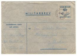 Miltärbrev. Avgiftsfritt.  Fältpost. Sverige 1961. Enveloppe En Franchise Militaire. Suède. - Militaires