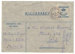 Miltärbrev. Avgiftsfritt.  Fältpost. Sverige 1962. Enveloppe En Franchise Militaire. Suède. - Militaires
