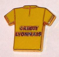 Pin's MAILLOT JAUNE CREDIT LYONNAIS, Signé METARGENT - Radsport