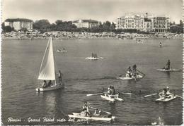 X4416 Rimini - Grand Hotel Visto Dal Mare - Panorama - Barche Boats Bateaux / Viaggiata 1958 - Rimini