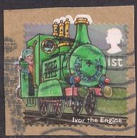 GB 2014 QE2 1st Class Childrens TV Ivor The Engine Used Stamp  On Paper SG 3553 ( R544 ) - 1952-.... (Elizabeth II)