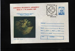 Romania Minerals Postal Stationery - Letter - Mineralien