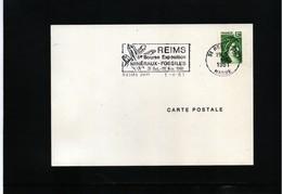 France 1981 Minerals Interesting Postmark - Mineralien
