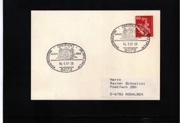 Germany 1987 Minerals Interesting Postmark - Mineralien