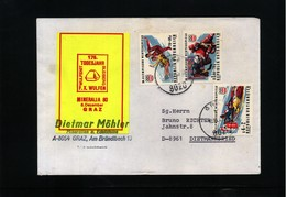 Austria 1980 Minerals Interesting Letter - Mineralien