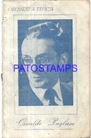 100741 ARGENTINA BS AS CONFITERIA ARMONIA ORQUESTA OSVALDO PUBLIESE TANGO LIBRILLO NO POSTAL POSTCARD - Postales