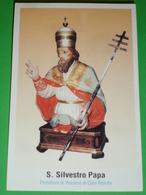 S.SILVESTRO Papa /VISCIANO ,CALVI RISORTA, Caserta  /santino Recente Tipografia Izzo,Sparanise - Santini