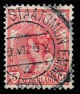 "1899 Wilhelmina 5 Ct. Prachtige Kortebalk Stempel """"STAATSMIJN EMMA"""" ZELDZAAM! - Gebraucht"