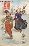 ILLUSTRATOR ENFANTINA PATINOIRE SPORT D'HIVER ILLUSTRATEUR NEDERLAND PAYS-BAS HOLLAND KINDER H.M. § CO - Voor 1900