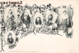 AMSTERDAM LICHTDRUCK KUNSTANSTALT HERZ SOUVENIR DE HOLLANDE COSTUME FOLKLORE GROET UIT NEDERLAND PAYS-BAS HOLLAND - Non Classés