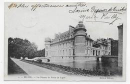 (RECTO / VERSO) BELOEIL EN 1905 - N° 1 - LE CHATEAU DU PRINCE DE LIGNE - BEAU TIMBRE ET CACHET - CPA VOYAGEE - Beloeil