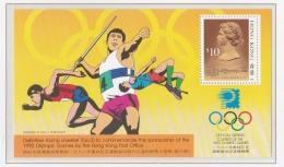 Hong Kong 1992 Barcelona Olympic Games Souvenir Sheet MNH/**  (H42) - Sommer 1992: Barcelone