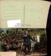 579791,La Normandie Pittoresque Eselgespann Esel Mann Tiergespann - Tierwelt & Fauna