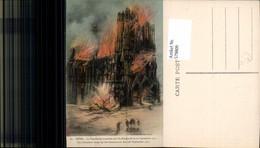 579809,Reims La Cathedrale Kathedrale Brand 1914 Angriff Deutschland Katastrophe - Katastrophen