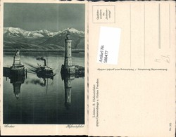580477,Leuchtturm Lindau Bodensee Hafeneinfahrt Geg. Guntenhänge U. Hohen Freschen - Leuchttürme