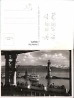 580479,Foto Ak Leuchtturm Lindau Bodensee Hafeneinfahrt M. M.S. Deutschland Schiff Da - Leuchttürme