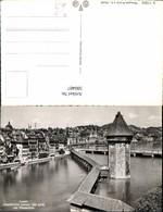 580487,Foto Ak Luzern Kapellbrücke U. Wasserturm - Wassertürme & Windräder (Repeller)