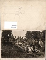 580819,Gruppenbild Wanderer Fernglas Technik - Ansichtskarten