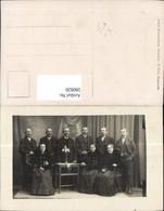 580820,Gruppenbild Familie Männer Frauen Tracht Schwalbenschwan Pub Atelier Sonnenlei - Ansichtskarten