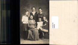580828,Gruppenbild Familie Frauen Generationen Matrosenanzug Mode - Ansichtskarten