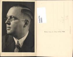 580835,Mann M. Brille Portrait Pub Photo-Haus O. Otte Kahla - Männer