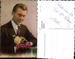 580837,Mann Portrait Rosen Blumen - Männer