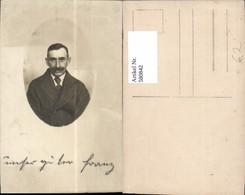 580842,Mann M. Bart Portrait Passepartout - Männer