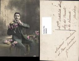 580845,Mann Anzug Rosen Blumen - Männer