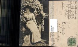 580862,Frau M. Hut Prinzessin August Wilhelm V. Preußen Adel Blumentage Potsdam 1911 - Mode