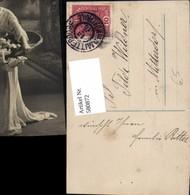 580872,Frau Kleid Korb Blumen Rosen - Frauen