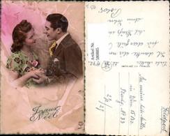 580885,Paar Liebe Verliebter Blick Joyeux Noel Weihnachten Pub P. C. Paris - Paare