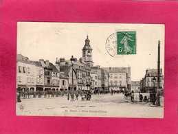51 Marne, Reims, Place Drouet-d'Erlon, Animée, 1909, (L. B.) - Reims