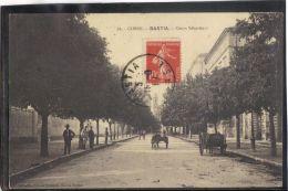2010. BASTIA . COURS SEBASTIANI  . RECTO/VERSO .  ANIMEE. ATTELAGES . COLL. SIMON DAMIANI . ANNEE . 1911 - Bastia