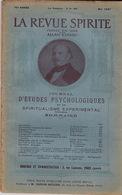 La Revue Spirite, Fondée Par Allan Kardec. Mai 1927. Avec Une Photographie De Léon Denis. - Esotérisme