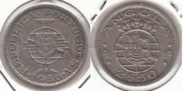 Angola 2.50 Escudos 1956 KM#77 - Used - Angola