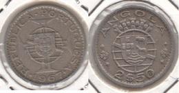 Angola 2.50 Escudos 1967 KM#77 - Used - Angola