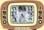 ILLUSTRATEUR  KRISS  SERIE LA TELE DE PAPA   SPEAKERINES  DE L'ORTF ANNEES 1950 1960 DRAGUIGNAN - Illustratori & Fotografie