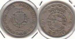 Angola 2.50 Escudos 1969 KM#77 - Used - Angola