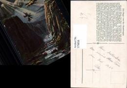 579858,Künstler Ak Die Sage Der Rosstrappe - Märchen, Sagen & Legenden